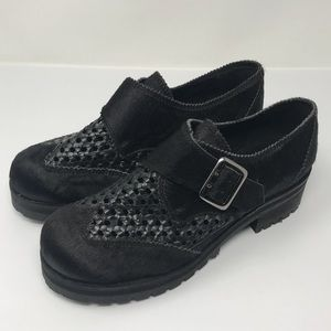 Topshop Woven Chunky Shoes